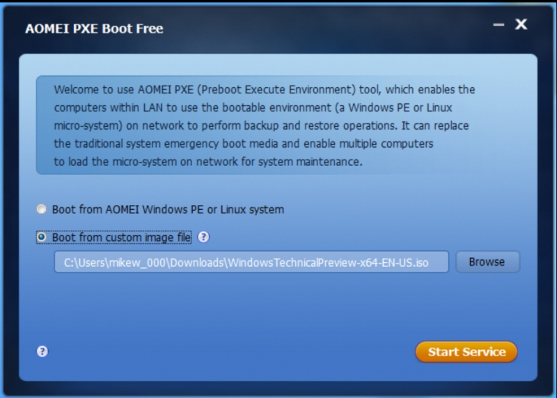 AOMEI PXE Boot 1.5