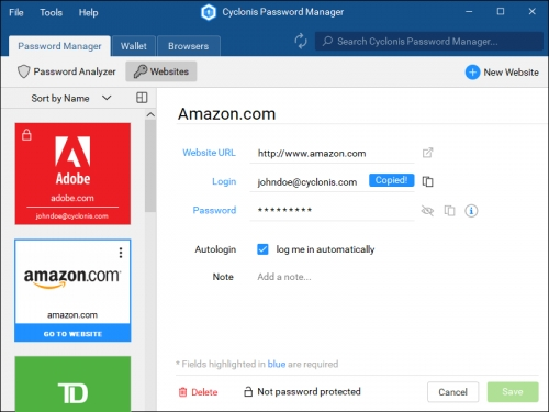 Cyclonis Password Manager 1.3.0.81