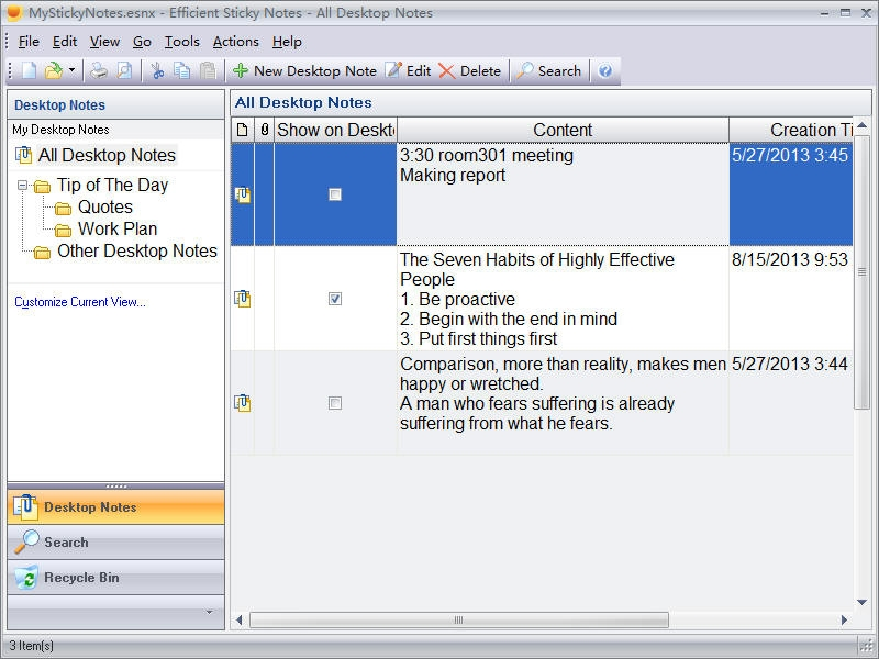 Efficient Sticky Notes Network 5.50 Build 539