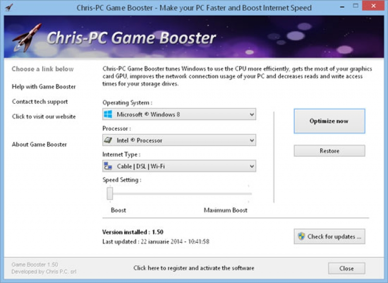 Chris-PC Game Booster 3.75