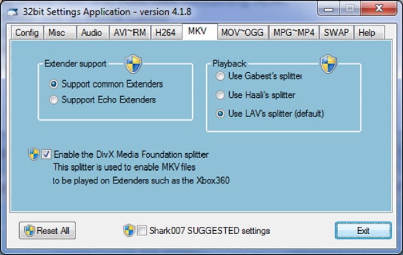 Advanced Codecs for Windows 7, 8, 10 10.2.2