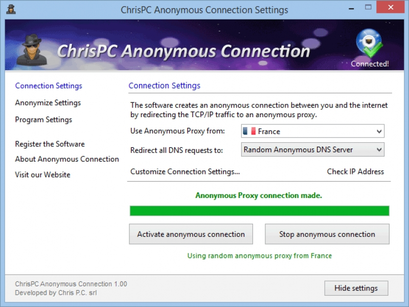 ChrisPC Anonymous Connection 1.30