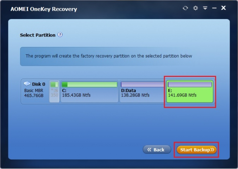 AOMEI OneKey Recovery 1.6.2