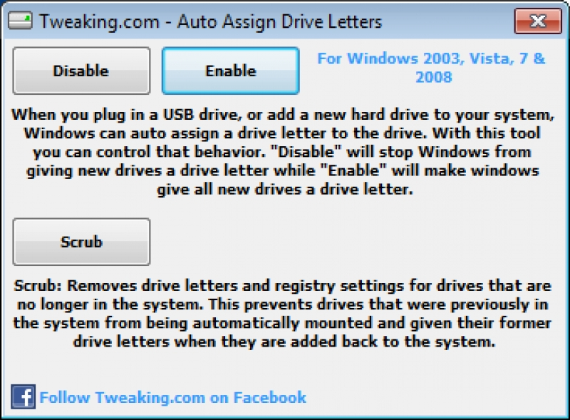 Auto Assign Drive Letters 1.0.0