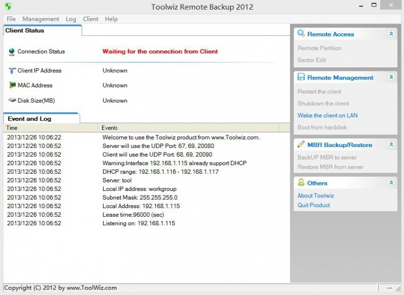 ToolWiz Remote Backup 1.0