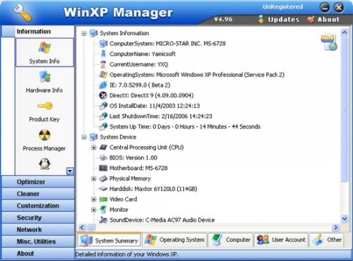 WinXP Manager 8.0.1