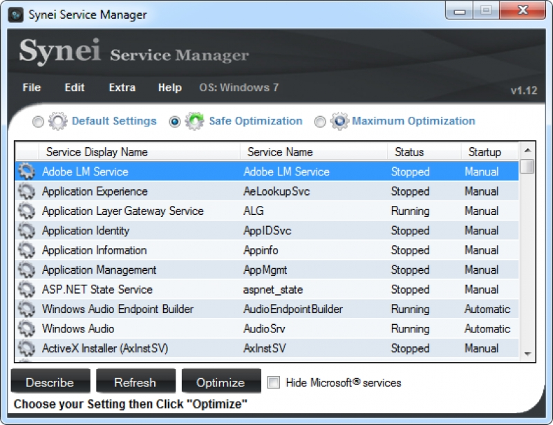 Synei Service Manager 1.25