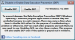 Disable or Enable Data Execution Prevention (DEP) 1.0.0