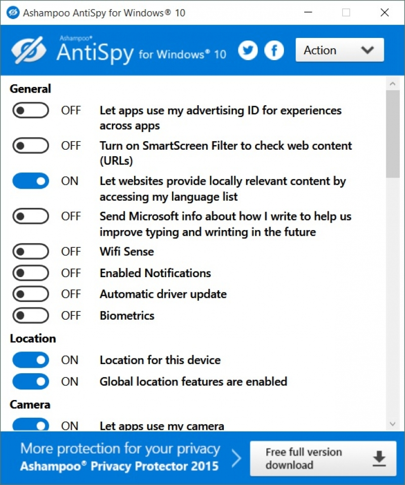 Ashampoo AntiSpy for Windows 10 1.0.6