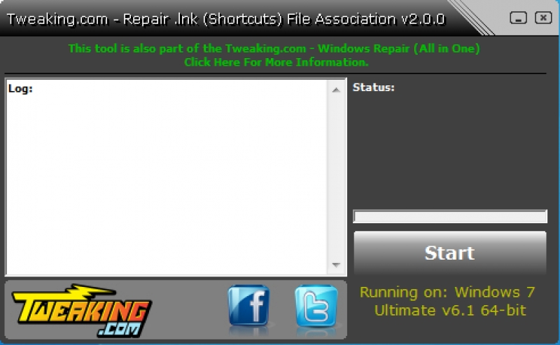 Repair .lnk (Shortcuts) File Association 2.8.8