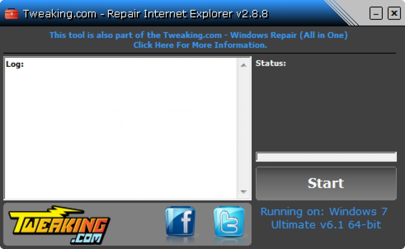 Repair Internet Explorer 2.8.8