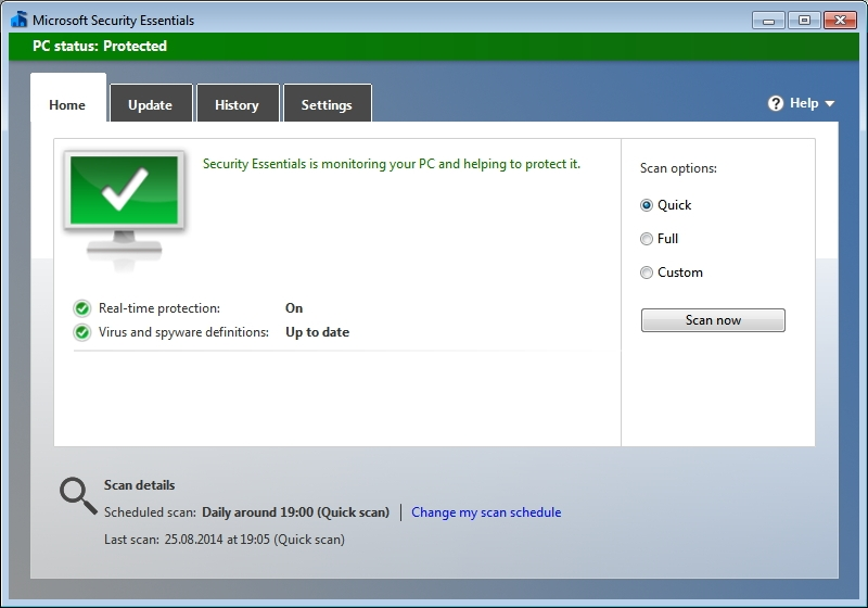 Microsoft Security Essentials Definition Updates 1.233.3375.0