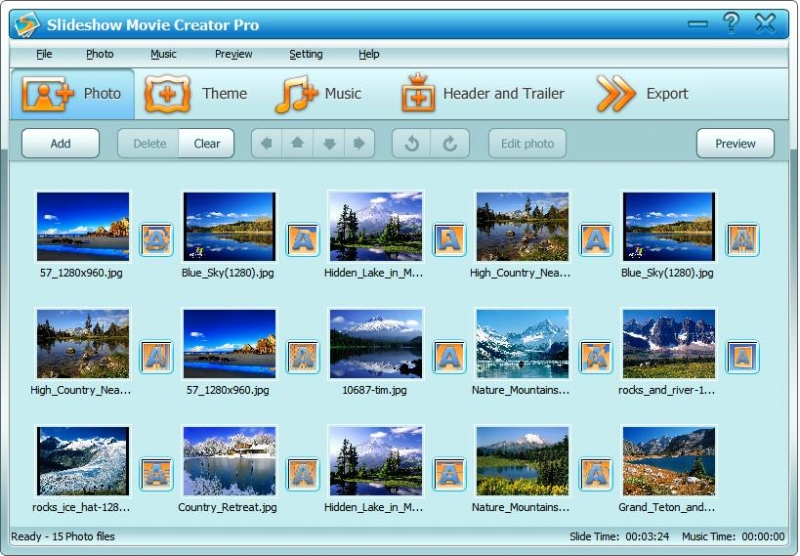 Slideshow Movie Creator 7.2