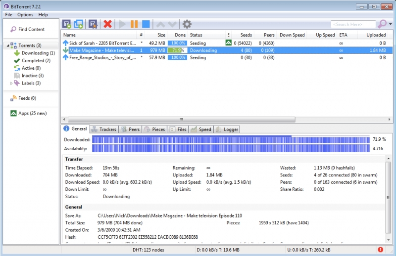 BitTorrent 7.10.3 Build 44359