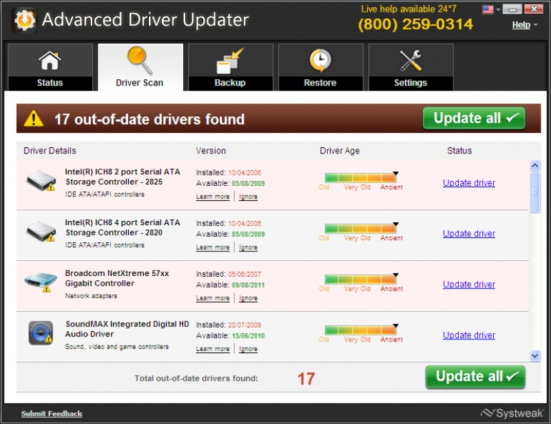 Advanced Driver Updater 2.1